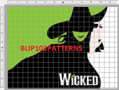 Wicked Poster Counted Cross Stitch On Storenvy