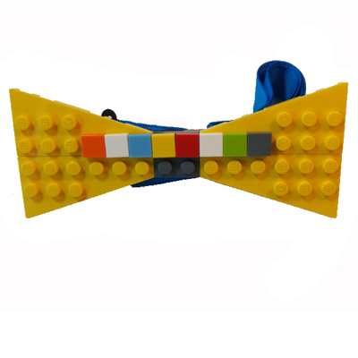 Personalized lego® bow tie  yellow/multi