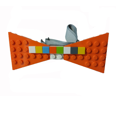 Personalized lego® bow tie  orange/multi