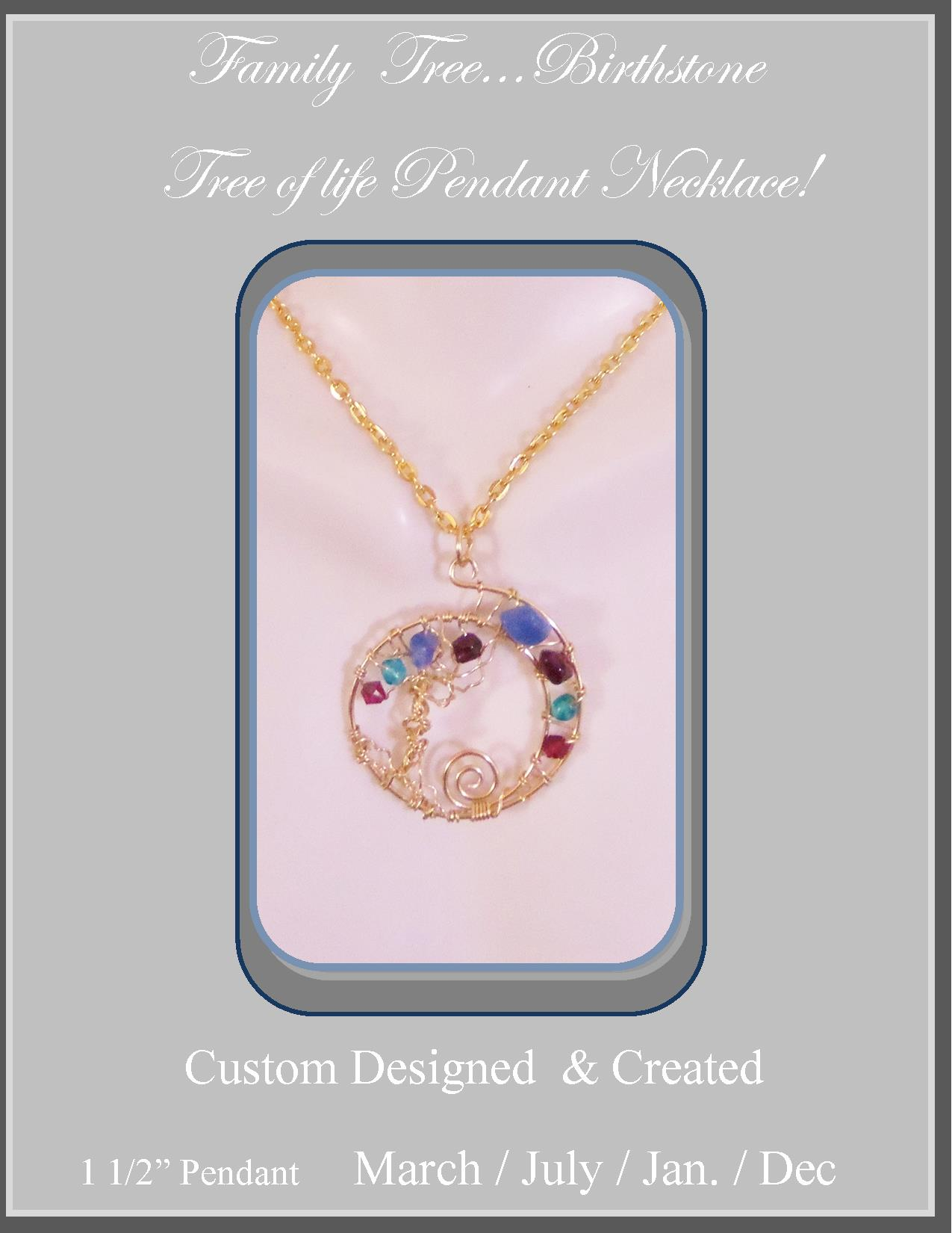 circle stackable charm necklaces family birthstones mothers pendant personalized birthstone kids with necklace