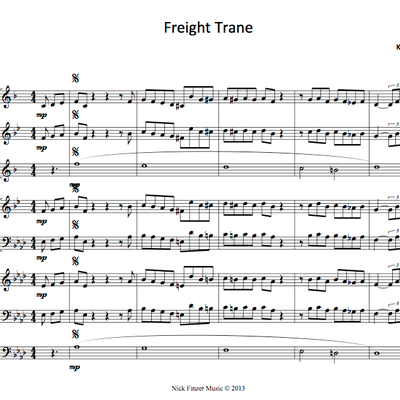 Freight trane for octet - april '14 free jazz arrangement