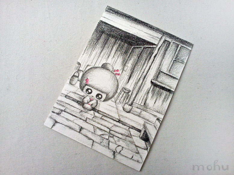 Original pencil drawing art card thumbnail 2