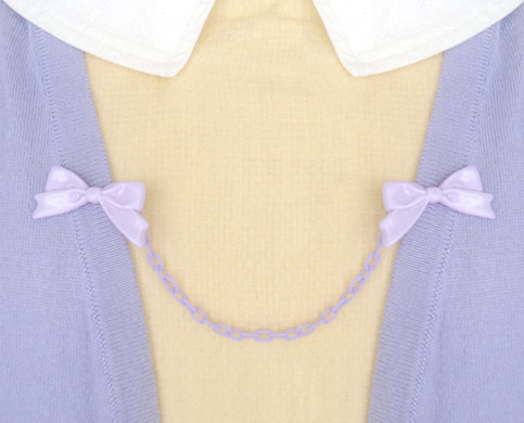 handmade lilac bow sweater clips