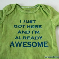 """Awesome"" Onesie"