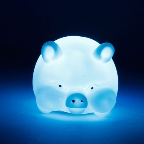 Color Changing Pig Night Light The Man Cave Online