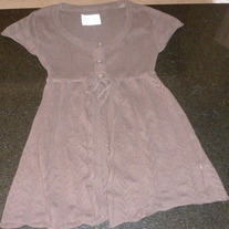 Brown Short Sleeve top with Hood-Limited Too Size 10