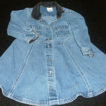 Denim Dress with Black Collar-Baby Gap Size 2T