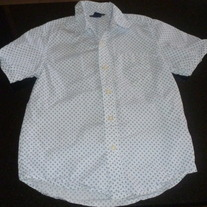 Blue/White Cotton Shirt with Collar-Gap Kids Size 6-7