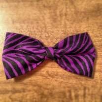 Purple Zebra Bow
