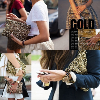 Brittany sequins clutch