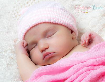 BABY GIRL HAT newborn hospital hat baby pink newborn INFANTEENIE BEENIE