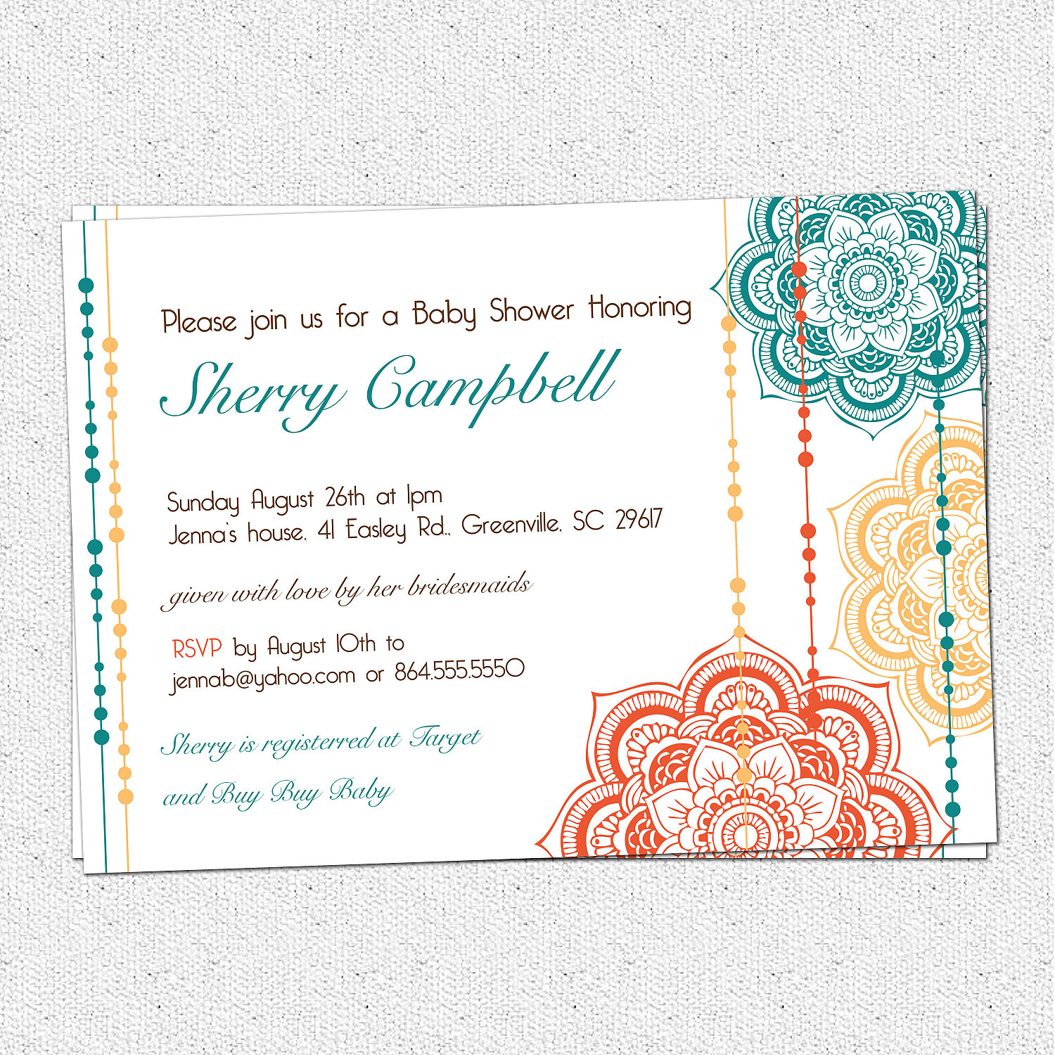 moroccan baby shower invitations floral elegant modern pick your
