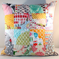 Modern Scrappy Pillow Cover