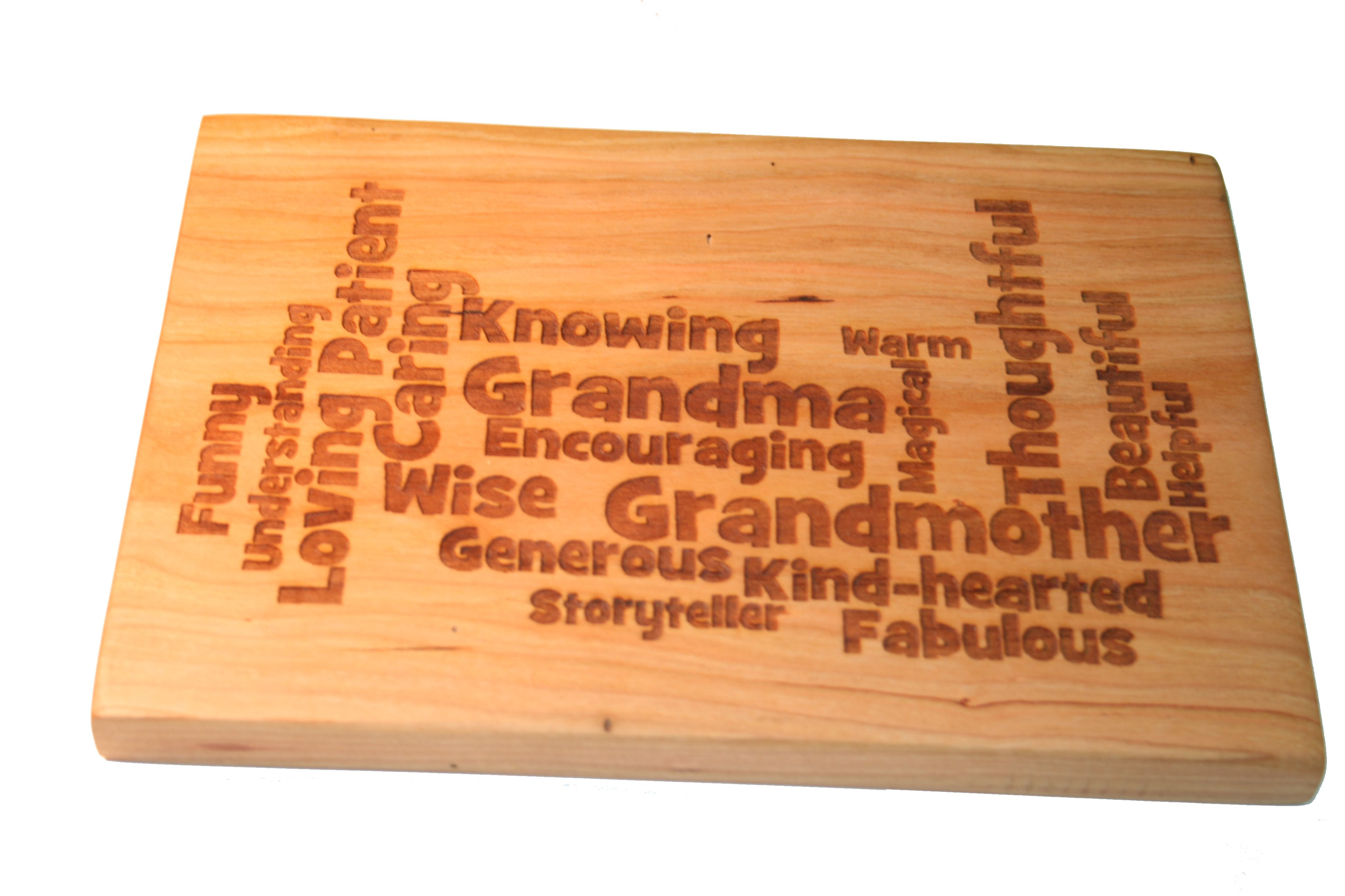 mother's day gift for grandma, laser engraved custom cutting board, Kitchen design
