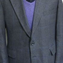 Racquet Club Houndstooth Sport Coat - 44R