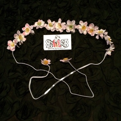 "Small size ""pretty in pink"" floral bangin band"