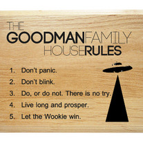 Sci-Fi House Rules Plaque