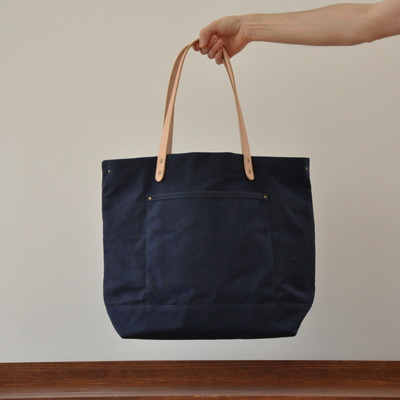 Carryall bag - navy waxed canvas