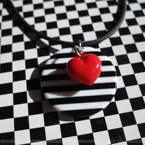 Hearts & Stripes Medallion Necklace