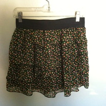 Cute Floral Ruffle Skirt