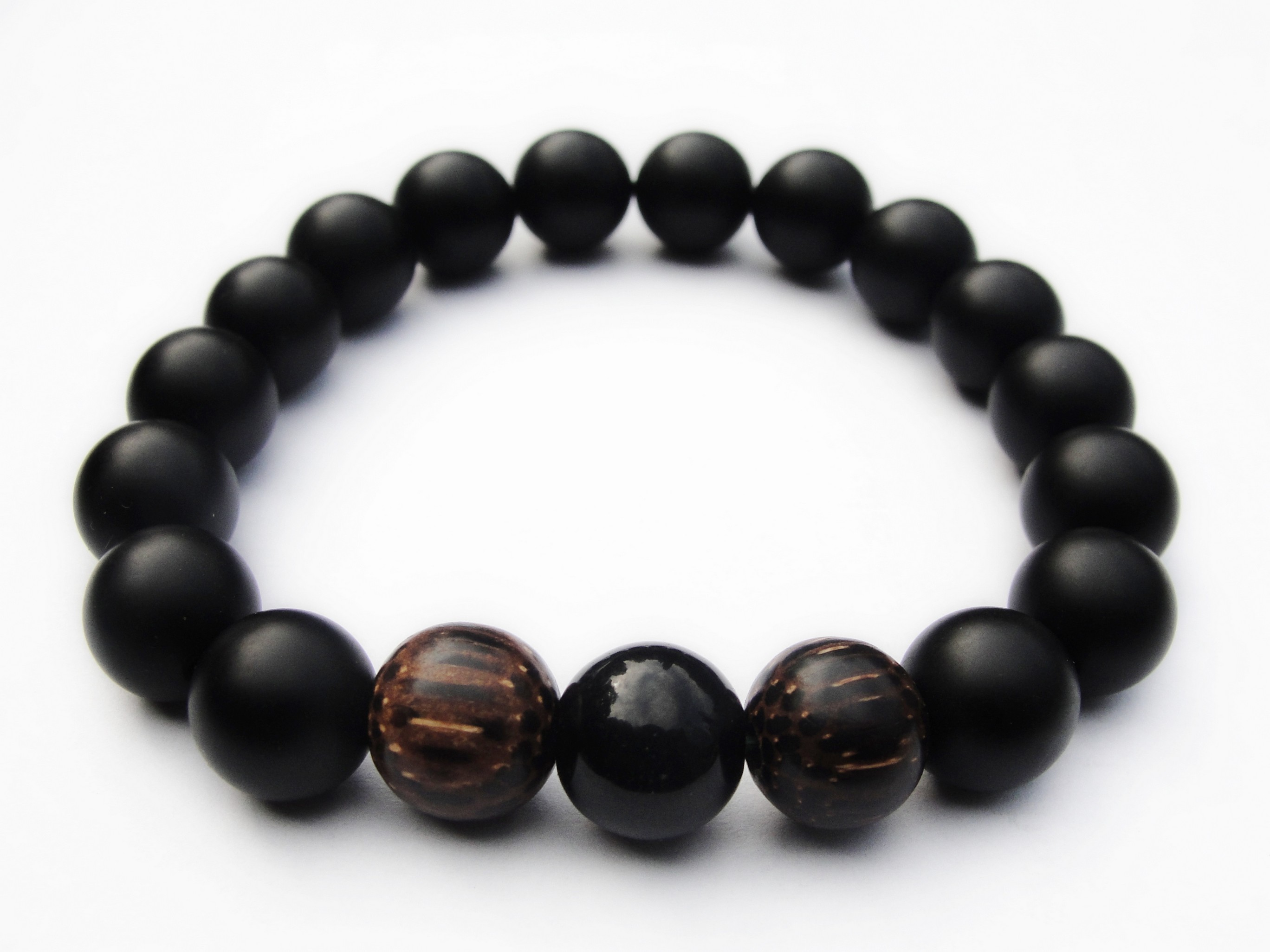 matte back gods bracelet pharaoh black products jewelry the beaded matteblack gold
