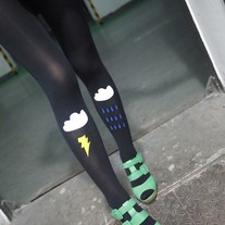 Stormy Skies Tights - Black