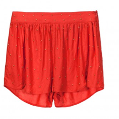 Knot sisters lover shorts red