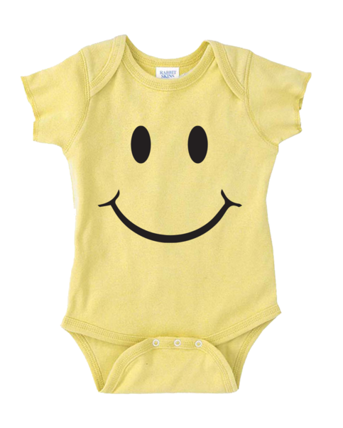 SMILEY FACE ONESIE FUNNY BABY ONESIE CUTE BABY STUFF BABY