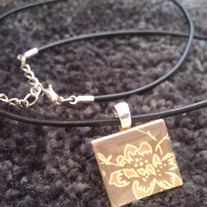 Scrabble Tile Necklace
