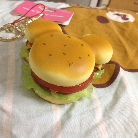 Rare Disney Licensed Resort Mickey Hamburger Squishy On
