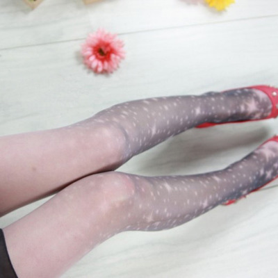 Milky galaxy tights - white + grey
