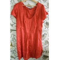 Evans Red Dress Size 30