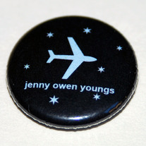 "PLANE AND STARS 1"" Button"