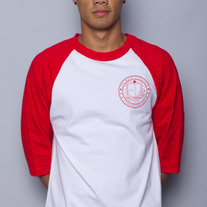 The Oh Man! College Baseball Tee in Red