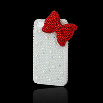 Pearl Case with Red Bow