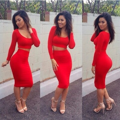 2 piece body-con dress (more colors)