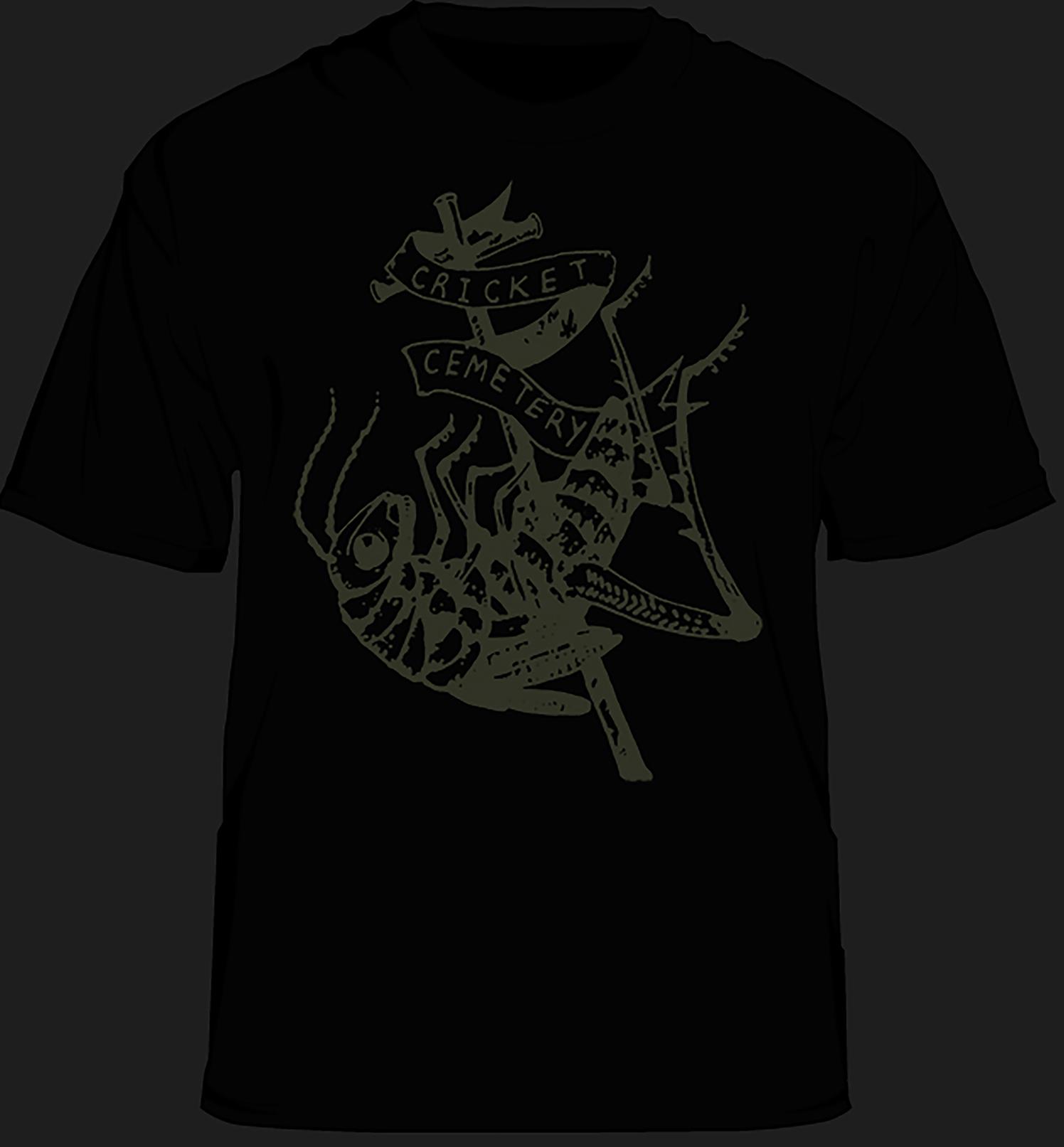 CRICKET CEMETERY - Glow in the Dark T Shirt · Cricket Cemetery ...