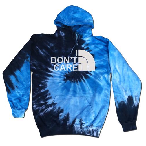 i dont care blue tie dye hoodie on storenvy. Black Bedroom Furniture Sets. Home Design Ideas