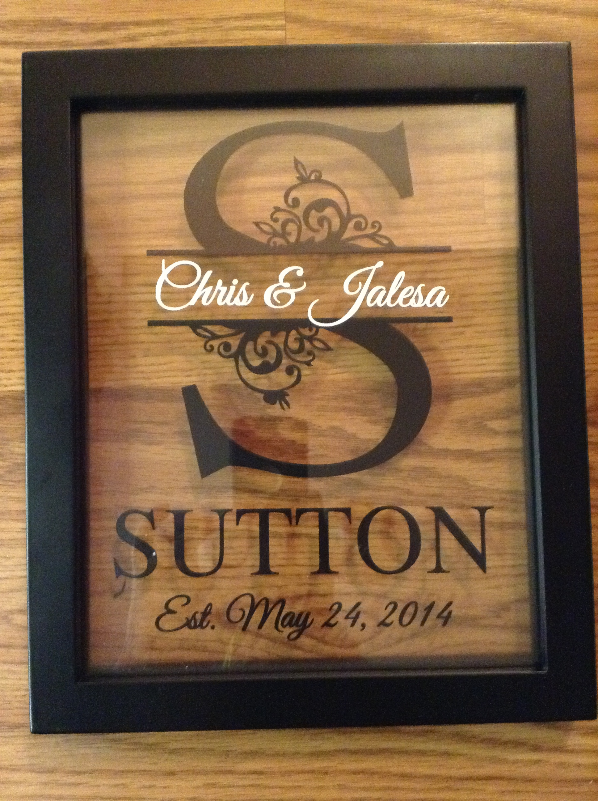 Personalized Last Name Floating Frame 8X10 on Storenvy