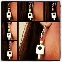 Spray Can Tip Earrings