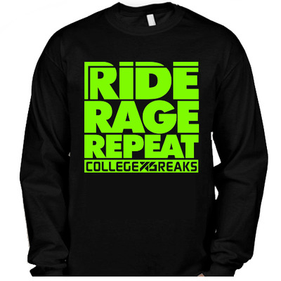 Collegexbreaks - snowboard long sleeve - black & neon green