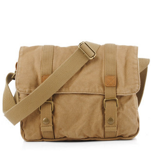 Best khaki canvas school messenger bag · Vintage rugged canvas ...