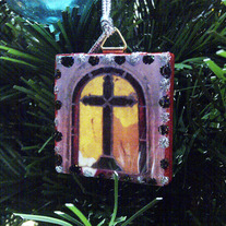 Recycled Tile Holiday Ornament - Cimetière Père-Lachaise