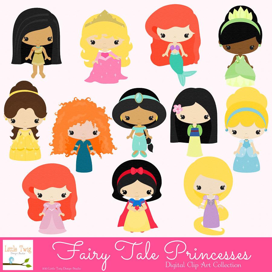 fairy tale princesses clip art on storenvy