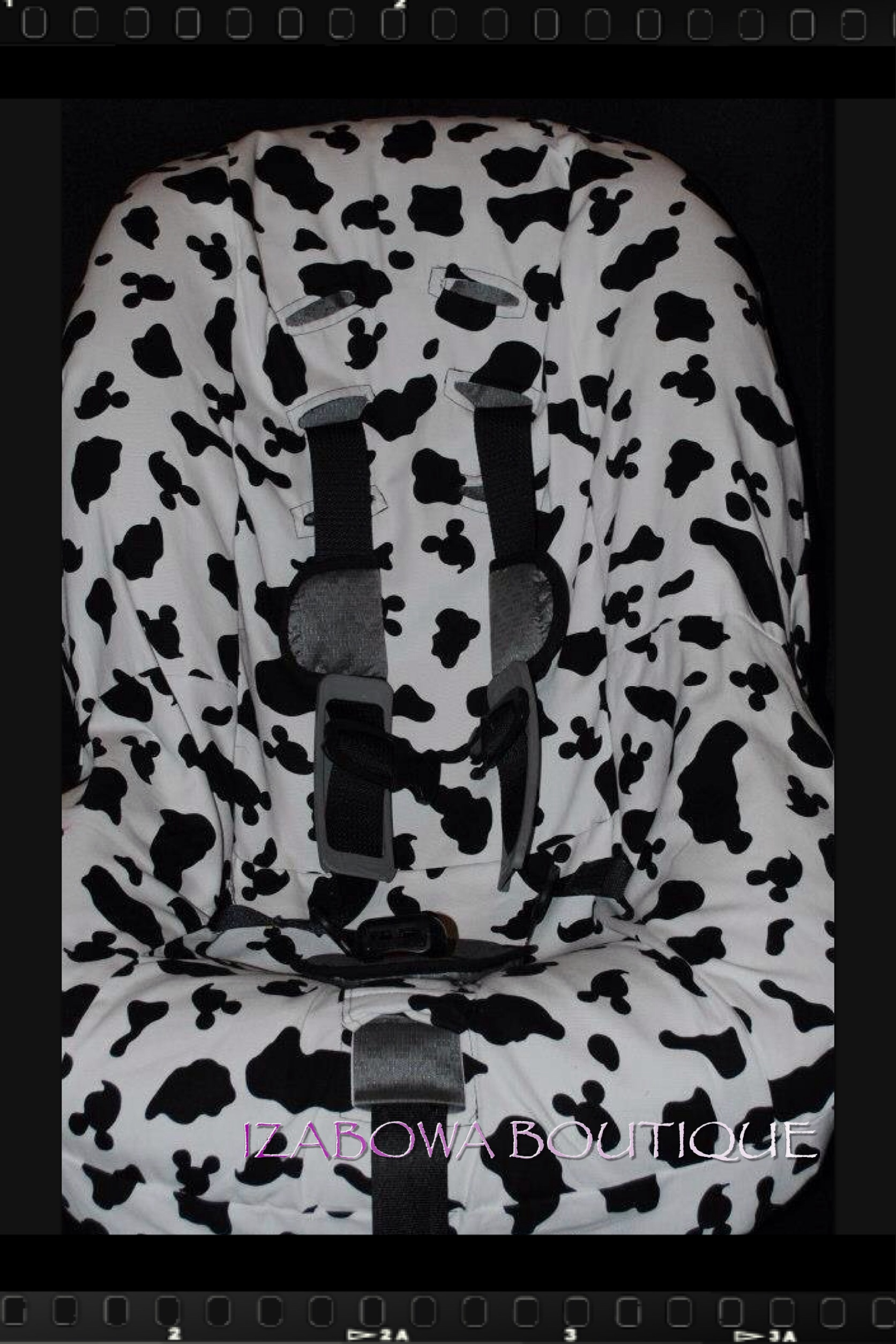 Cow Print Minky Car Seat Cover