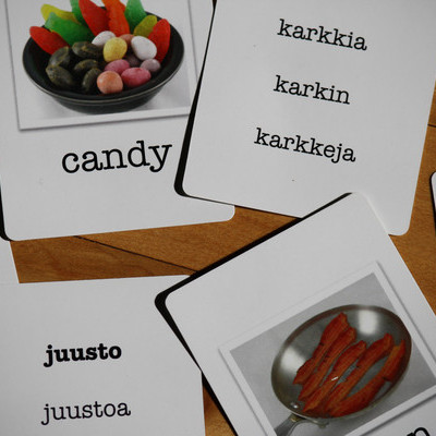 Meats, grains and more finnish language flashcards