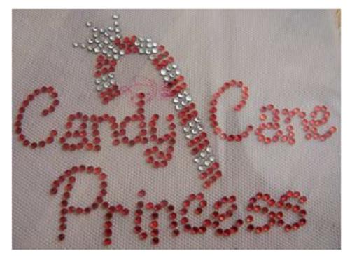 Candy cane princess rhinestone transfer faithful sparkle for Princess cane