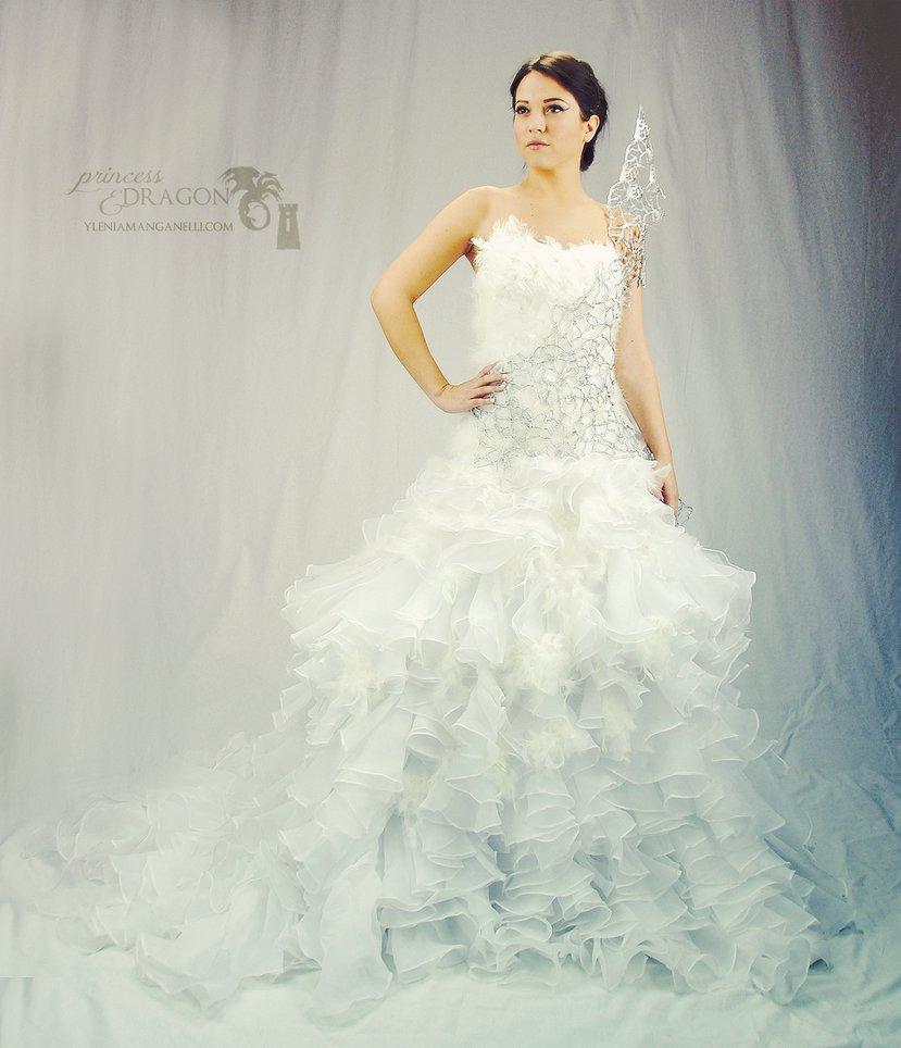 Hunger Games Mockingjay Dress Costume Wedding Dress Hunger Games