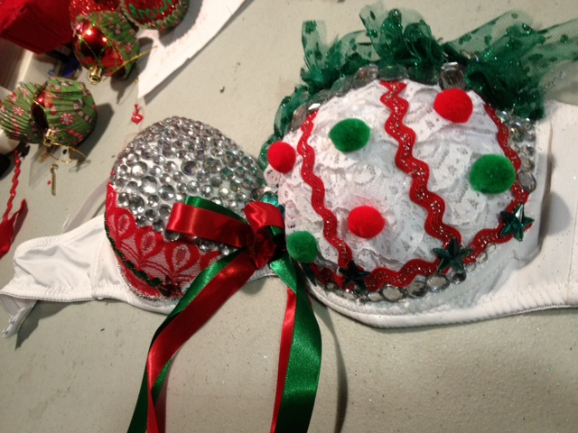 Christmas Rave Bras Lace Cupcake Rave Bra 36c