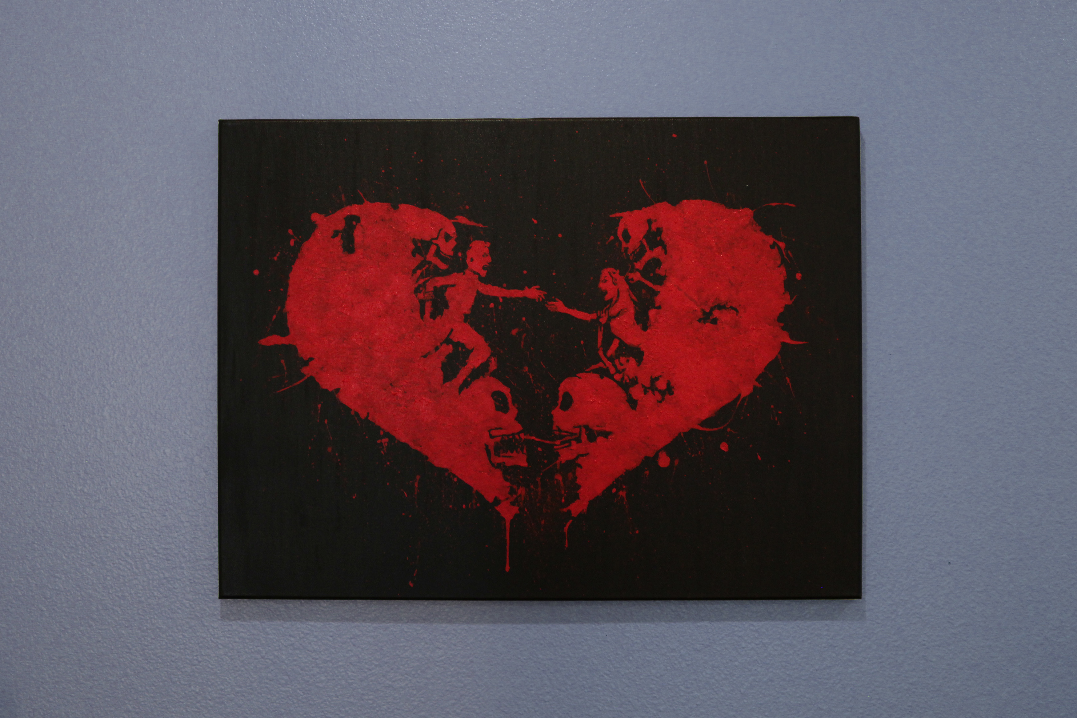 Bleeding heart acrylic painting 24 x 18